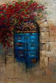Tuscan Door Photograph Italy Photography by Tuscany Doorways Painting Blue Door Italian Door With Rose