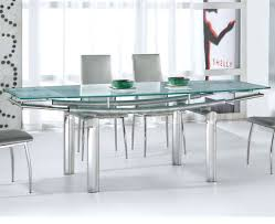 Extendable Glass Dining Table Stainless Steel And Glass Dining Table