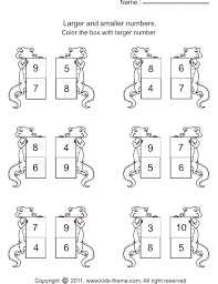 larger numbers worksheets