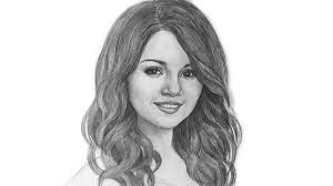 selena gomez beautifull portrait drawing selenagomez youtube
