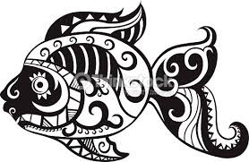 fish with ornaments in the style of the maori vector thinkstock