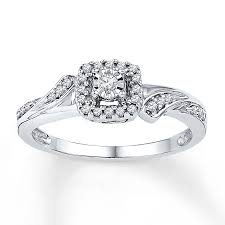 kay jewelers class rings jared diamond promise ring 1 6 ct tw round cut sterling silver