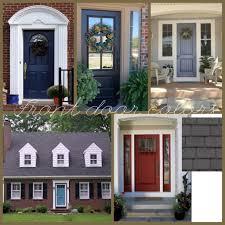 Best Front Door Colors Front Doors Cute Front Door Red Brick House 49 Best Colour Front