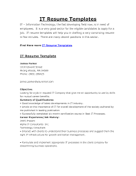 Resume It Examples by Free Resume Templates It Template Examples Cio Within 89 Cool