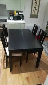 ikea bjursta extendable table brown black ikea bjursta extendable dining table brown black 4 börje chairs