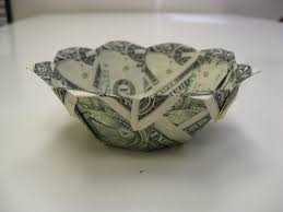 dollar money origami bowl money dollar origami pinterest