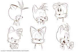 sonic boom tails concept expression chart imagery stuff
