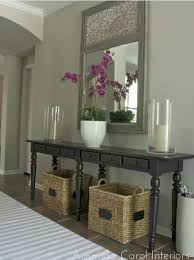 Hallway Table With Drawers Hallway Table With Drawer And Decorative Mirrors Home Interiors