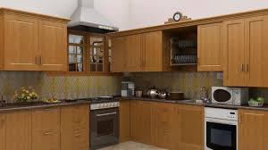 modular kitchen chimney dark mahogany wood kitchen storage cabinet