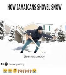 Shoveling Snow Meme - howjamaicans shovel snow gumboy seniorgumboy