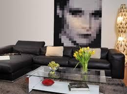 salon avec canapé noir modèle deco salon avec canape cuir noir