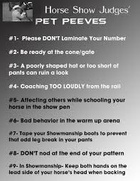 top 10 horse show judges u0027 pet peeves equine chronicle