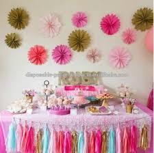princess ideas paper fans tassel garland idea pastel