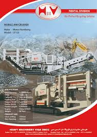 mobile crushers u0026 screens u2013 rental division heavy machinery viqa