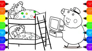 peppa pig baby coloring pages how to color baby peppa pig family