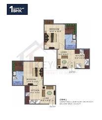 1bhk floor plan gls avenue 51 sector 92 gurgaon 1bhk floor plan key 4 you