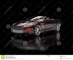 convertible sports car dark red pearlescent paint stock photo