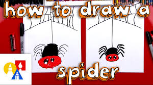 how to draw a cartoon spider and spider web youtube