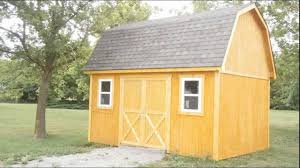 gambrel roof mini barn youtube maxresdefault house plan 12x16 shed