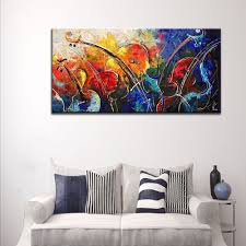 aliexpress com buy hand painted abstract music oil painting