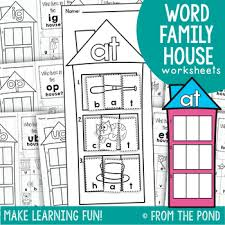 cvc word family worksheets by from the pond teachers pay teachers