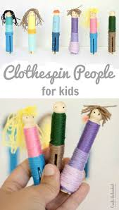 clothespin crafts thread dolls crafts unleashed
