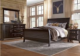 King Sleigh Bedroom Sets by Nantucket Breeze Black 7 Pc King Sleigh Bedroom Bedroom Sets Black