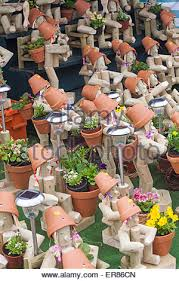 Garden Decorations For Sale Display Of Garden Ornaments For Sale Stock Photo Royalty Free