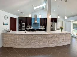 Curved Island Kitchen Designs Hmmmmmm I Like The Curved Island W The Stone Face Dark