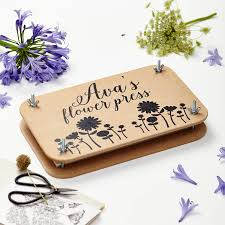 flower press personalised wooden flower press by tillyanna notonthehighstreet