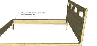 headboard cool design bed rails to connect headboard and footboard build a diy beadboard basic