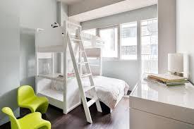 contemporary kids bedroom with high ceiling u0026 hardwood floors