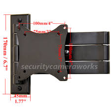 19 Inch Monitor Wall Mount Articulating Tv Wall Mount For 19 29
