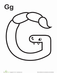 alphabet monster coloring pages education