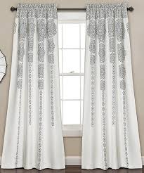 gray medallion room darkening curtain panel set of two zulily