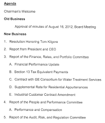 General Meeting Agenda Template by In The Boro