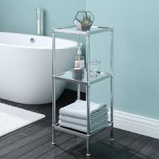 Free Standing Bathroom Shelves Free Standing Bathroom Shelving You Ll Wayfair