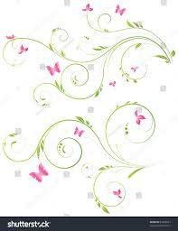 designs of flowers and butterflies butterfly on flowers design