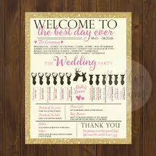 Funny Wedding Programs Hadley Designs Programs