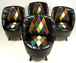 Whiskey Barrel Chairs 1960s Whiskey Barrel Swivel Chairs Set Of 4 U2013 Hoopers Modern