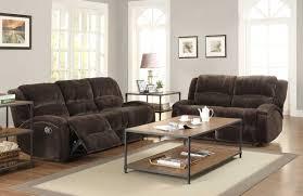 Reclining Sofa Microfiber by Semi Circular Gray Microfiber Fabric Reclining Sleeper Sofa Set In