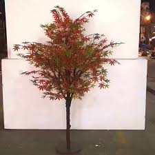 factory price indoor decoative artificial autumn maple small tree