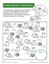 organize the campsite worksheet education com