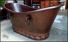 Hammered Copper Bathroom Sink Double Slipper Mexican Copper Bath Tub 1 27 U2014 Custom Hammered
