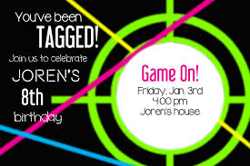 laser tag party invitations template free cimvitation
