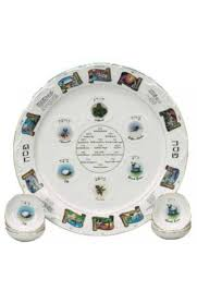 passover plate ceramic passover seder plate with bowls