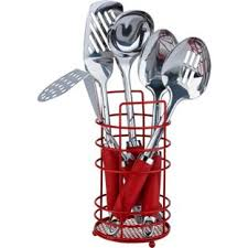 Red Kitchen Utensil Set - buy colourmatch stainless steel 5 pc kitchen utensils set red at