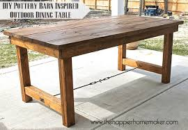 Outdoor Dining Room Furniture Diy Pottery Barn Inspired Dining Table The Happier Homemaker