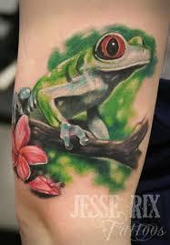 cute tree frog tattoo