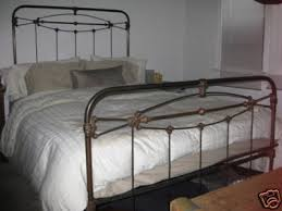 charming wrought iron bed frame queen m77 in home design style